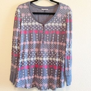 Victoria Secret Long Sleeve Henley Top Size XL